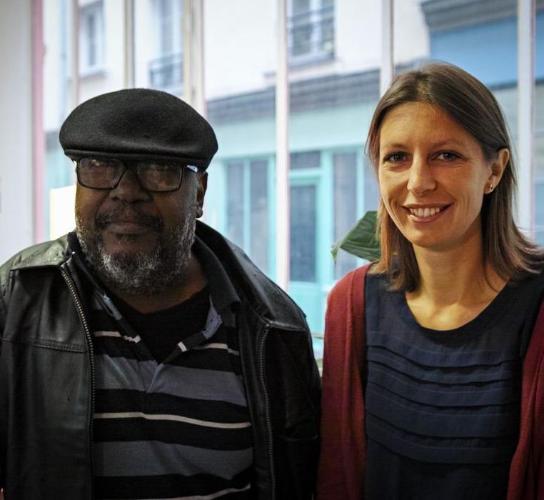 Photo Lyonel Trouillot et Marie-Bénédicte Loze