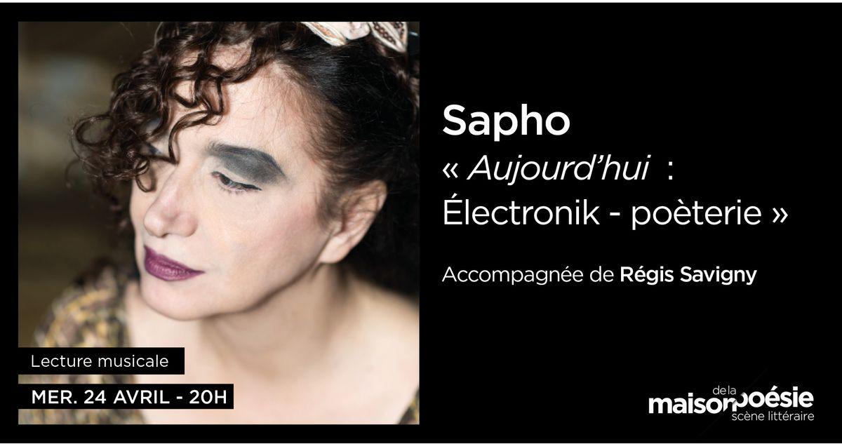 Sapho à la Maison de la Poésie